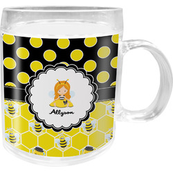 Honeycomb, Bees & Polka Dots Acrylic Kids Mug (Personalized)