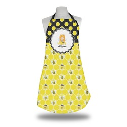 Honeycomb, Bees & Polka Dots Apron (Personalized)