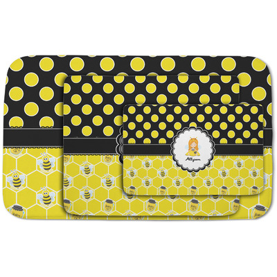Honeycomb, Bees & Polka Dots Area Rug (Personalized)