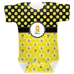 Honeycomb, Bees & Polka Dots Baby Bodysuit (Personalized)