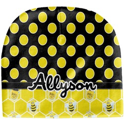 Honeycomb, Bees & Polka Dots Baby Hat (Beanie) (Personalized)