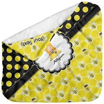 Honeycomb, Bees & Polka Dots Baby Hooded Towel (Personalized)