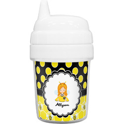 Honeycomb, Bees & Polka Dots Baby Sippy Cup (Personalized)