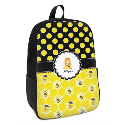 Honeycomb, Bees & Polka Dots Kids Backpack (Personalized)