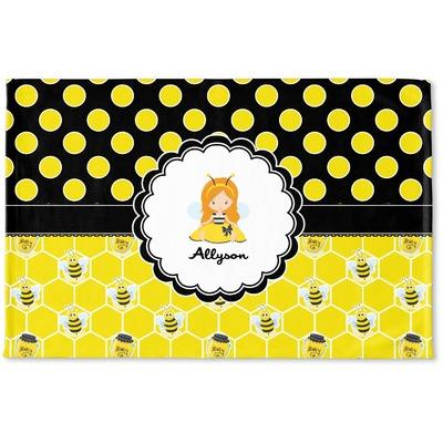 Honeycomb, Bees & Polka Dots Woven Mat (Personalized)