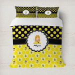 Honeycomb, Bees & Polka Dots Duvet Cover (Personalized)