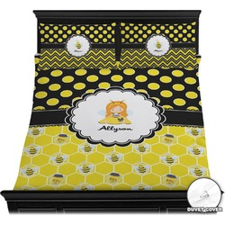 Honeycomb, Bees & Polka Dots Duvet Cover Set (Personalized)
