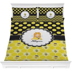 Honeycomb, Bees & Polka Dots Comforter Set (Personalized)