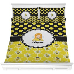 Honeycomb, Bees & Polka Dots Comforters (Personalized)