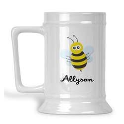 Honeycomb, Bees & Polka Dots Beer Stein (Personalized)