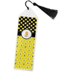 Honeycomb, Bees & Polka Dots Book Mark w/Tassel (Personalized)