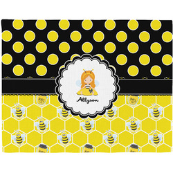 Honeycomb, Bees & Polka Dots Placemat (Fabric) (Personalized)