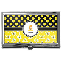 Honeycomb, Bees & Polka Dots Business Card Case