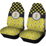 Honeycomb, Bees & Polka Dots Car Seat Covers (Set of Two) (Personalized)