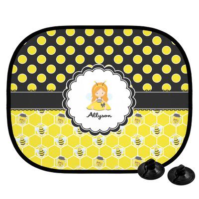 Honeycomb, Bees & Polka Dots Car Side Window Sun Shade (Personalized)