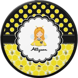 Honeycomb, Bees & Polka Dots Round Trailer Hitch Cover (Personalized)