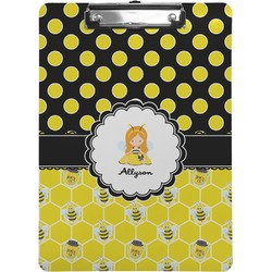 Honeycomb, Bees & Polka Dots Clipboard (Personalized)
