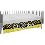 Honeycomb, Bees & Polka Dots Crib Skirt (Personalized)