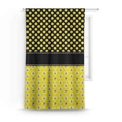 Honeycomb, Bees & Polka Dots Curtain (Personalized)