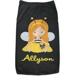 Honeycomb, Bees & Polka Dots Black Pet Shirt (Personalized)
