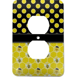 Honeycomb, Bees & Polka Dots Electric Outlet Plate (Personalized)