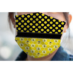 Honeycomb, Bees & Polka Dots Face Mask Cover (Personalized)