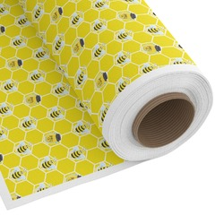 Honeycomb, Bees & Polka Dots Custom Fabric by the Yard (Personalized)