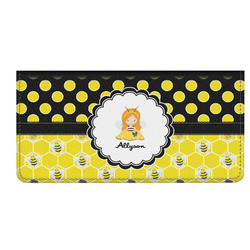 Honeycomb, Bees & Polka Dots Genuine Leather Checkbook Cover (Personalized)