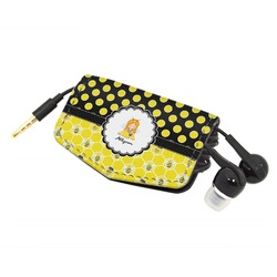 Honeycomb, Bees & Polka Dots Genuine Leather Cord Wrap (Personalized)