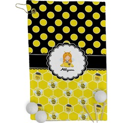 Honeycomb, Bees & Polka Dots Golf Towel - Full Print (Personalized)