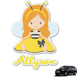 Honeycomb, Bees & Polka Dots Graphic Car Decal (Personalized)