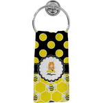 Honeycomb, Bees & Polka Dots Hand Towel - Full Print (Personalized)