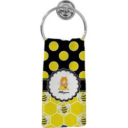 Honeycomb, Bees & Polka Dots Hand Towel - Full Print (Personalized)