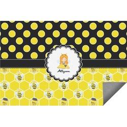 Honeycomb, Bees & Polka Dots Indoor / Outdoor Rug (Personalized)