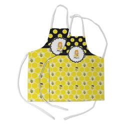 Honeycomb, Bees & Polka Dots Kid's Apron w/ Name or Text