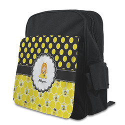 Honeycomb, Bees & Polka Dots Preschool Backpack (Personalized)