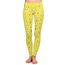 Honeycomb, Bees & Polka Dots Ladies Leggings (Personalized)