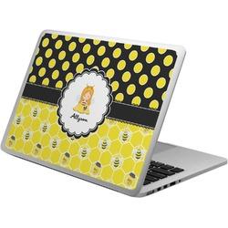 Honeycomb, Bees & Polka Dots Laptop Skin - Custom Sized (Personalized)