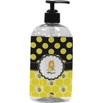 Honeycomb, Bees & Polka Dots Plastic Soap / Lotion Dispenser (Personalized)