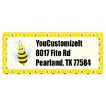 Honeycomb, Bees & Polka Dots Return Address Labels (Personalized)