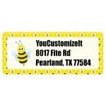 Honeycomb, Bees & Polka Dots Return Address Labels (Personalized)
