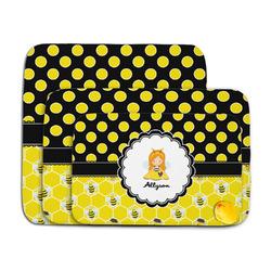 Honeycomb, Bees & Polka Dots Memory Foam Bath Mat (Personalized)