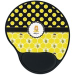 Honeycomb, Bees & Polka Dots Mouse Pad with Wrist Support