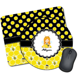 Honeycomb, Bees & Polka Dots Mouse Pads (Personalized)