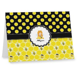 Honeycomb, Bees & Polka Dots Note cards (Personalized)