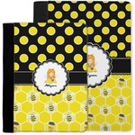 Honeycomb, Bees & Polka Dots Notebook Padfolio w/ Name or Text