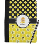 Honeycomb, Bees & Polka Dots Notebook Padfolio (Personalized)