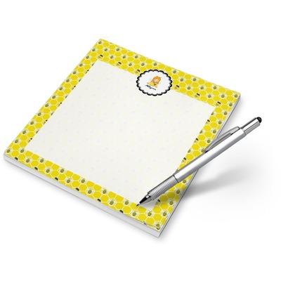 Honeycomb, Bees & Polka Dots Notepad (Personalized)