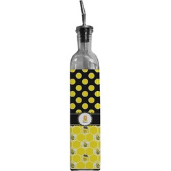 Honeycomb, Bees & Polka Dots Oil Dispenser Bottle (Personalized)