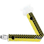 Honeycomb, Bees & Polka Dots Pacifier Clips (Personalized)